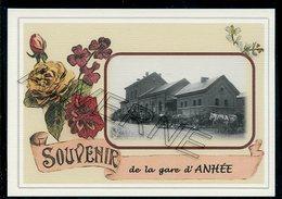 ANHEE...  2 Cartes Souvenirs Gare ... Train  Creations Modernes Série Limitée - Anhée