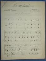 CAF CONC PIANO GF CHANT PARTITION XIX CÉCILE CHAMINADE TU ME DIRAIS ROSEMONDE GÉRARD MANUSCRIT FIN XIXe - Musique & Instruments