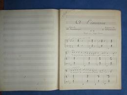 CAF CONC PIANO GF CHANT PARTITION XIX CÉCILE CHAMINADE À L'INCONNUE CHARLES GRANDMOUGIN MANUSCRIT FIN XIXe - Musique & Instruments