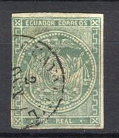 Ecuador 1865, Coat Of Arms, Escudo De Armas (o), Used - Ecuador