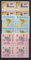 Ecuador 1961, Stamp On Stamp **, MNH-VF, Block 0f 4 - Ecuador