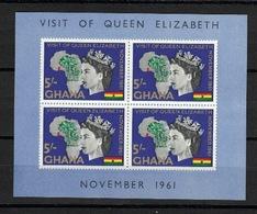 Ghana 1961, Visit Of Queen Elizabeth **, MNH - Ghana (1957-...)
