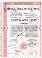 Obligation Ancienne - Commune Saint-Gilles-lez-Bruxelles - Emprunt De 3% De 3.235.500 Francs 1894 Titre De 1955 - Actions & Titres