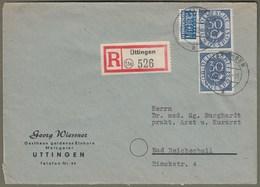 """Bund: Brief Mit Paar Mi-Nr. 132: """" Dauerserie Posthorn 30 Pfg """" !    X - Oblitérés"""