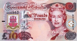 """GIBRALTAR 10 POUNDS 2002 UNC P-30 """"free Shipping Via Registered Air Mail"""" - Gibraltar"""
