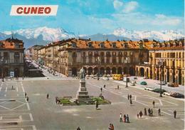 CUNEO - PIAZZA GALIMBERTI - CORSO NIZZA - ANIMATA - AUTO D'EPCOCA CARS VOITURES - NON VIAGGIATA - Cuneo