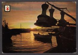 91678/ LUMIERE, Coucher De Soleil, Le Roussillon, Barques Aux Lamparos - Contre La Lumière