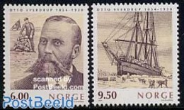 Norway 2004 Otto Sverdrup 2v, Joint Issue Canada, Greenland, (Mint NH), Transport - Ships And Boats - History - Explorer - Nuovi