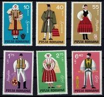 Rumänien Romana 1973 - Trachten - MiNr 3110-3115** - Kostüme