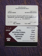 QTR3 Q-Tel ITS , Used(backside Tiny Turned Yellow) - Qatar