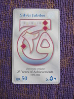 QTR89 25 Years Of Achievements ,QR50,  Used - Qatar