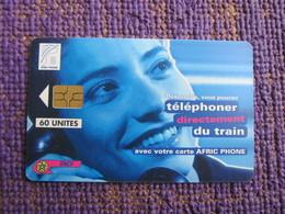 MOR-AP-8 Woman On Phone,O.N.C.F Chip Phonecard,used - Morocco