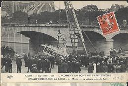 Paris 27 Septembre 1911 L Accident Du Pont De L Archevéché Un Autobus Dans La Seine 11 Morts Le Sauvetage éditeur Eld - Transport Urbain En Surface