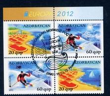 Aserbaidschan H-Blatt Mit MiNr. 915-16 D Gestempelt CEPT 2012 (W2754 - Aserbaidschan