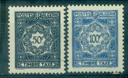 ALGERIE  Taxe N°47 / 48 N Xx . TB Cote :18.20 €. - Algérie (1924-1962)