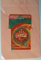 SINGAPORE - Phonecards Exhibition Singapore '95 - Coca Cola - Kreta Ayer Stamp Soc - $3 - Mint In Folder - Singapore