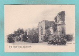Old Post Card Of The Residency,Lucknow, Uttar Pradesh, India ,R78. - India