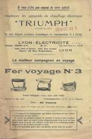 Pub Tarif - TRIUMPH - Fer à Repasser, Réchaud, Lampe, Radiateur, Fer à Souder... - Publicités