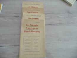 Les Carnets Poétiques Nord Africains N°6/7/8/9 1956 - Poésie