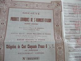 Action De 150 Francs Au Porteur Produits Chimiques De Saint Rambert D'Albon - Industrie