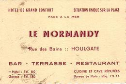 CARTE DE VISITE - LE NORMANDY HOULGATE - Cartes De Visite