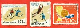 Football. North Korea 1966. Complete Series.Used Stamp. - Stamps