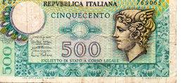 CINQUECENTO LIRE ( 1974 ) - [ 2] 1946-… : Repubblica
