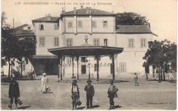 POSTAL   CONSTANTINE  -ARGELIA  - PLACE DU PALAIS ET LA DIVISION - Argelia