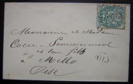 Mello (Oise) Jolie Petite Enveloppe D'origine Locale (OL) - Postmark Collection (Covers)