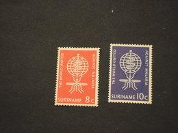 SURINAME -  1962 MALARIA/INSETTO  2 VALORI - NUOVO(++) - Suriname