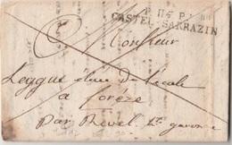 TARN ET GARONNE - Lettre De CASTELSARRASIN - 1818 - Storia Postale