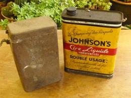 Bidon Cire Johnson Boite Militaria Vide - Boîtes