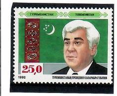 Turkmenistan. 1992 President (looks To The Left). 1v: 25.0 - Turkménistan