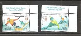 Serbia 2018 Winter Olympic Games, PyeongChang, Snowboarding, Speed Skating, Sport, Snow, , MNH - Winter 2018: Pyeongchang