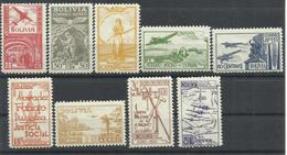 BOLIVIA  YVERT  AEREO 40/48  MH  * - Bolivia
