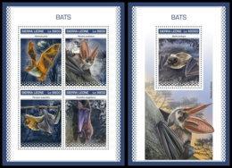 SIERRA LEONE 2018 **MNH Bats Fledermäuse Chauves-souris M/S+S/S - OFFICIAL ISSUE - DH1846 - Bats
