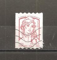 France 2013 Autoadhésif  Oblitéré  N° 863   Lettre Prioritaire Rouge  ( Prédécoupé Horizontalement ) - 2013-... Marianne Of Ciappa-Kawena