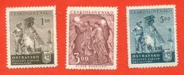 Miner's Day. Czechoslovakia 1951. Complete Series.Unused Stamp. - Factories & Industries