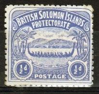 British Solomon Islands Edward VII 1907 Single ½d Ultramarine Definitive Stamp. - British Solomon Islands (...-1978)