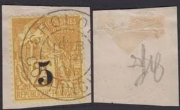 """Colonies Françaises - Cochinchine 1886 - Timbre N°1 Sur Fragment Oblitération """" Cholon """" (6G18416) DC0797 - Cochinchine (1886-1887)"""
