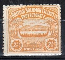 British Solomon Islands Edward VII 1907 Single 2½d Orange Yellow Definitive Stamp. - British Solomon Islands (...-1978)