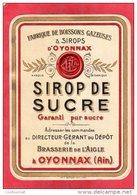 ETIQUETTE  BRASSERIE De L' AIGLE à OYONNAX Fabrique De Boissons Gazeuses & SIROPS  ( Etiq2 - Labels