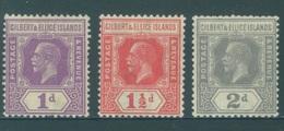 GILBERT ELLICE -  MLH/* - 1922-1927 - GEORGE V - Yv 35-37 -  Lot 18265 - Îles Gilbert Et Ellice (...-1979)