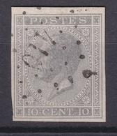 N° 17 Margé  NON DENTELE  410 ZELE - 1865-1866 Profil Gauche