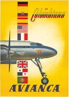 Aviation Postcard Colombiano Avianca 1946 - Reproduction - Publicidad