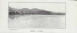 1902 - Phototypie - Briord (Ain) - Le Rhône - FRANCO DE PORT - Vieux Papiers