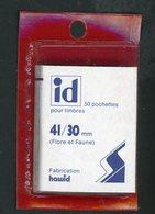 POCHETTE HAWID (X50) 41/30 Mm FOND NOIR - Albums & Reliures