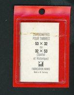 POCHETTE HAWID (X25) 53/32 OU 32/53 Mm FOND NOIR - Albums & Reliures