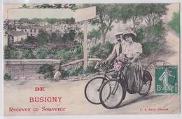 De BUSIGNY Recevez Ce Souvenir - Fantaisie Bicyclette - Frankreich