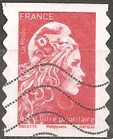 France 2018 Oblitéré Autoadhésif  N° 1599  - Marianne L'engagée  -  Lettre Prioritaire Rouge - - 2018-... Marianne L'Engagée